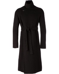 schwarzer Mantel von Rick Owens