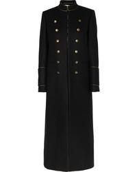 schwarzer Mantel von Saint Laurent