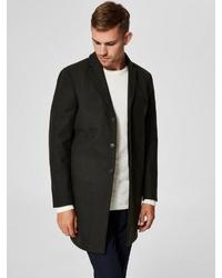 schwarzer Mantel von Selected Homme
