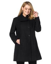 schwarzer Mantel von Sheego