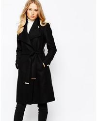 schwarzer Mantel von Ted Baker