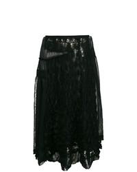 schwarzer Midirock aus Spitze von Comme Des Garçons Vintage