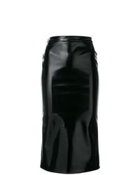 schwarzer Midirock von McQ Alexander McQueen