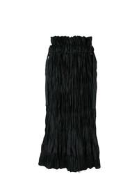 schwarzer Midirock von Sacai