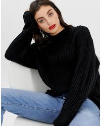 schwarzer Oversize Pullover von ASOS DESIGN