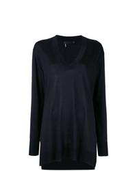 schwarzer Oversize Pullover von Calvin Klein