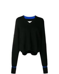 schwarzer Oversize Pullover von Maison Margiela