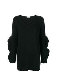 schwarzer Oversize Pullover von RED Valentino