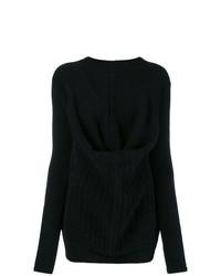 schwarzer Oversize Pullover von Rick Owens