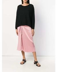schwarzer Oversize Pullover von Vince