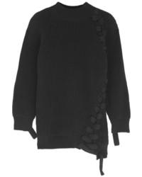 schwarzer Oversize Pullover von Victoria Beckham