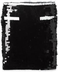schwarzer Paillette Minirock