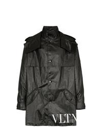 schwarzer Parka von Valentino
