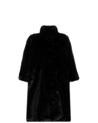 schwarzer Pelz von Balenciaga