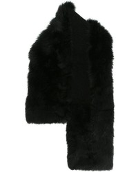 schwarzer Pelzschal