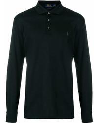 schwarzer Polo Pullover