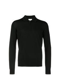 schwarzer Polo Pullover von Brioni