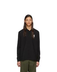 schwarzer Polo Pullover von Burberry