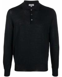 schwarzer Polo Pullover von Canali