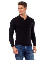 schwarzer Polo Pullover von Cipo & Baxx
