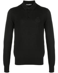 schwarzer Polo Pullover von Dolce & Gabbana