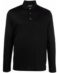 schwarzer Polo Pullover von Emporio Armani