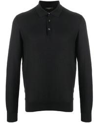 schwarzer Polo Pullover von Ermenegildo Zegna