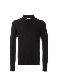 schwarzer Polo Pullover von Fashion Clinic Timeless