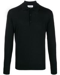 schwarzer Polo Pullover von Lanvin