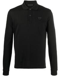 schwarzer Polo Pullover von Prada