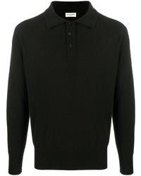 schwarzer Polo Pullover von Saint Laurent