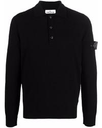 schwarzer Polo Pullover von Stone Island