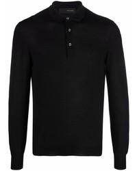schwarzer Polo Pullover von Tagliatore
