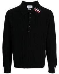 schwarzer Polo Pullover von Thom Browne