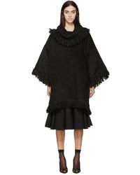 schwarzer Poncho von Dolce & Gabbana