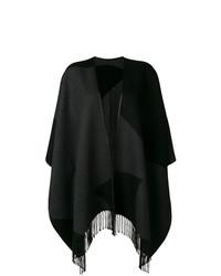 schwarzer Poncho von Salvatore Ferragamo