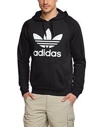 schwarzer Pullover mit einem Kapuze von adidas