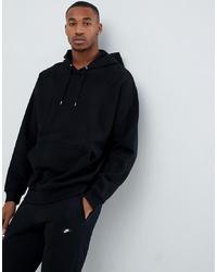 schwarzer Pullover mit einem Kapuze von ASOS DESIGN