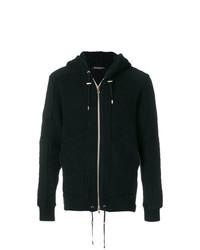 schwarzer Pullover mit einem Kapuze von Balmain