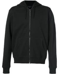 schwarzer Pullover mit einem Kapuze von Belstaff