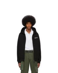 schwarzer Pullover mit einem Kapuze von Burberry