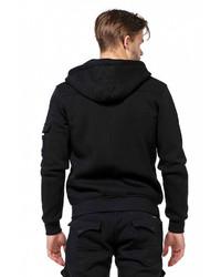 schwarzer Pullover mit einem Kapuze von Cipo & Baxx