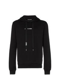 schwarzer Pullover mit einem Kapuze von Dolce & Gabbana