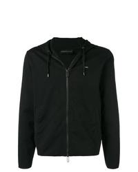 schwarzer Pullover mit einem Kapuze von Emporio Armani