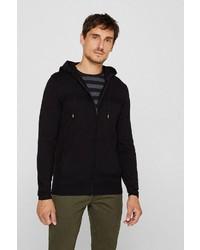 schwarzer Pullover mit einem Kapuze von Esprit