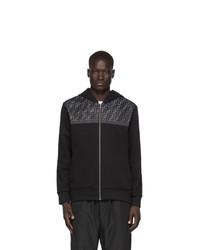 schwarzer Pullover mit einem Kapuze von Fendi