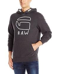 schwarzer Pullover mit einem Kapuze von G-Star RAW