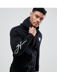 schwarzer Pullover mit einem Kapuze von Good For Nothing