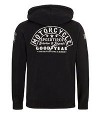 schwarzer Pullover mit einem Kapuze von Goodyear