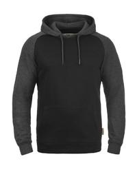 schwarzer Pullover mit einem Kapuze von INDICODE